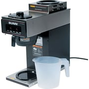 Bunn® 12 Cup Two-Station® Commercial Pour-O-Matic® Coffee Brewer, Stainless Steel, Black