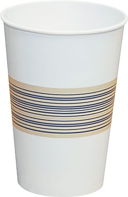 Boardwalk Paper Hot Cups, 12 oz., Blue/Tan, 20 Bags of 50, 1000/Ct 150045