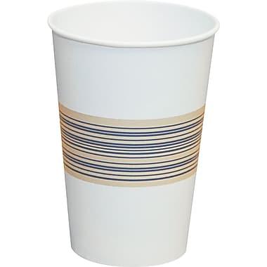 Boardwalk Paper Hot Cup, 12 oz., Blue/Tan, 1000/Carton