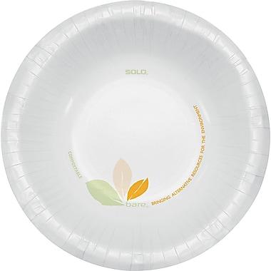 Solo® Bare™ Paper Bowl, 12 oz., Green Tan, 500/Carton