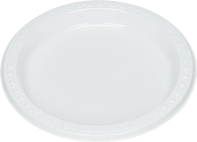 Tablemate® Disposable Round Plastic Plate, 7
