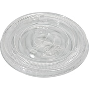 NatureHouse® Corn Plastic Compostable Cold Cup Lid for 10-16 oz. Cold Cups, Flat Shape, Clear