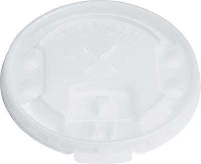 Solo  Lift Back & Lock Tab Cup with Straw Slot Lid for Trophy  Foam Hot/Cold Cups, 12-16 oz. 870595
