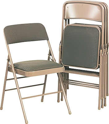 Charmant Bridgeport Deluxe Fabric Padded Seat And Back Folding Chair, Cavallaro  Taupe | Staples