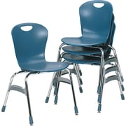 "Virco® Plastic Ergonomic Stack Chairs With 18"" High Zuma Bucket Seat"