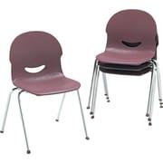 Virco ® IQ ® Flexible Polypropylene Stack Chair, Wine