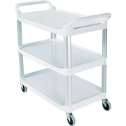"Rubbermaid ® 37 13/16""H x 40 5/8""W x 20""D Commercial Open Sided Utility Cart, Off-White"