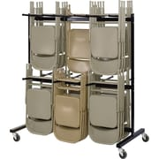"""Safco ® Steel Two-Tier Chair Cart, Black, 70 1/4""""H x 64 1/2""""W x 33 1/2""""D"""