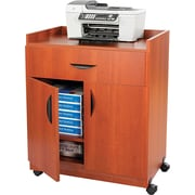 """Safco® 36 1/4""""H x 30""""W x 20 1/2""""D Mobile Laminate Machine Stand With Pullout Drawer, Cherry"""