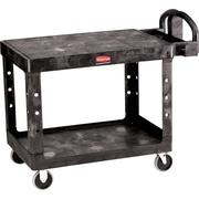 "Rubbermaid® 33 1/3""H x 25 7/8""W x 43 7/8""D Commercial Flat Shelf Utility Cart, Black"