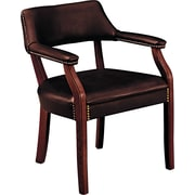 HON® 6550 Series Vinyl Guest Chair, Oxblood/Mahogany (HON6551NEJ65)