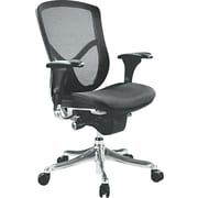 Alera® EQ Ergonomic Multifunction Mid Back Mesh Chair, Black
