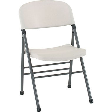 COSCO Bridgeport Endura Molded Folding Chairs, 4/Pack, White Speckle