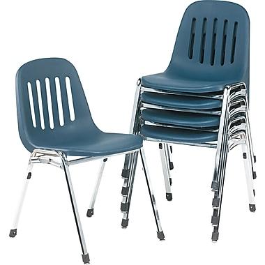 COSCO Bridgeport Graduate Commercial Stack Chair, Navy