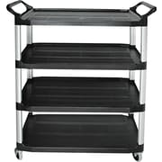 "Luxor® STC Series 36 1/2""(H) 3 Shelves Tub Cart, Black"