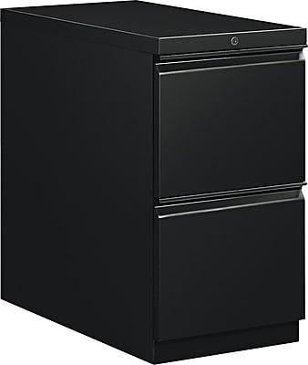 HON Flagship® Series 2 Drawer Vertical File Cabinet, Mobile, Black, 28