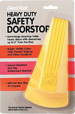 Master Giant Foot® No-Slip Doorstop, Safety Yellow, 2