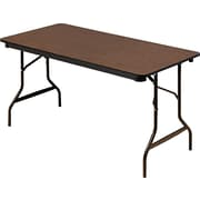 "Iceberg Enterprises Economy 60"" Folding Table, Walnut (55314)"