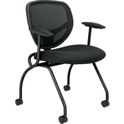 basyx by HON HVL301 Mesh Nesting Chair, Black