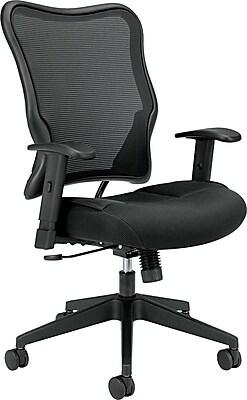 HON Wave Mesh High-Back Task Chair, Synchro-Tilt, Adjustable Arms, Black Sandwich Mesh Seat NEXT2018 NEXT2Day