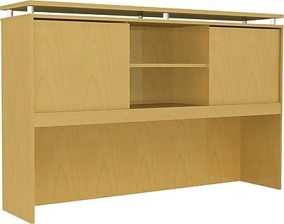 Alera® SedinaAG Woodgrain Laminate Hutch With Sliding Doors, 72