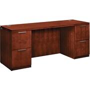 "HON® Arrive™ Wood Veneer Base Kneespace Credenza, 29 1/2""H x 72""W x 24""D, Henna Cherry"