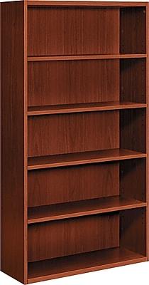 HON® Arrive™ 5-Shelf Wood Veneer Bookcase, Henna Cherry