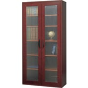 "Safco  Apres Laminated Compressed Wood Tall Two-Door Cabinet, 59 1/2""H x 29 3/4""W, Mahogany"