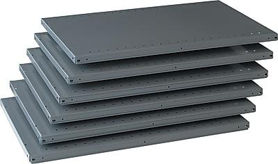 Tennsco Steel Industrial Shelving, 6 Shelves, 24