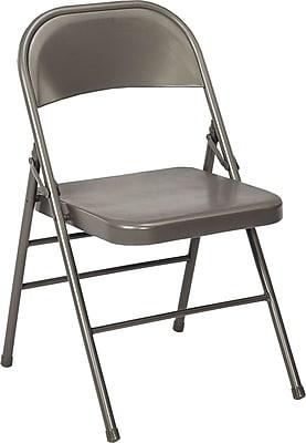 Bridgeport All Steel Folding Chair, Dark Gray
