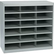 "Safco E-Z Stor® Steel Project Organizer, 18 Compartments, Gray, 36 1/2""H x 37 1/2""W x 15 3/4""D"