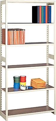 Tennsco Heavy-Duty Rolled Steel Regal Shelving Starter Set, 6 Shelves, 15
