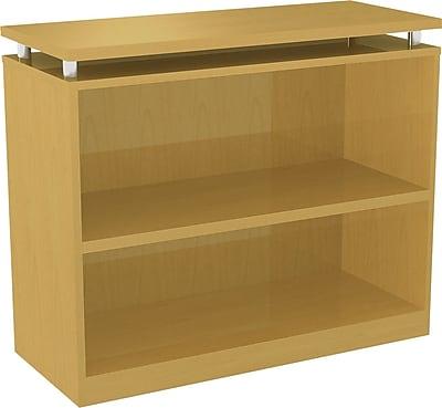Alera® 2-Shelf SedinaAG Series Woodgrain Laminate Bookcase, Maple