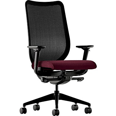 HON® HONN103NT69 Nucleus® Fabric Mesh Back Office Chair with Adjustable Arms, Wine