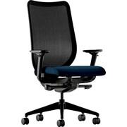 HON® Nucleus® Polyester Work Chair, Black ilira-stretch M4 Back, Mariner Seat