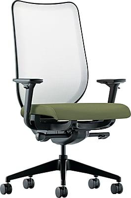 HON® HONN102NR74 Nucleus® Fabric Mesh Back Office Chair with Adjustable Arms, Clover