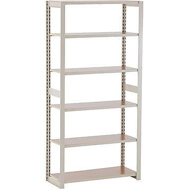 Tennsco Heavy-Duty Rolled Steel Regal Shelving Add-On Unit, 6 Shelves, 76