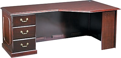 "DMi® Governor's Executive Solid Hardwood Base Left Corner ""U"" Workstation Credenza, 72"