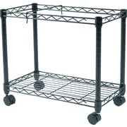 """Fellowes ® 14""""D High-Capacity Rolling File Cart, Black"""