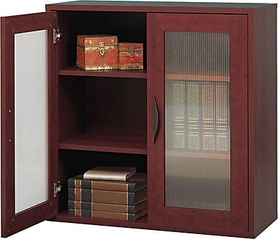 """Safco® Après™ Modular 2-Door Cabinet, 2 Shelf, Mahogany, 30""""H x 30""""W x 12""""D"""