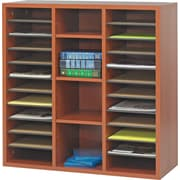"Safco  Apres Laminated Compressed Wood Literature Organizer, 29 3/4""H x 29 3/4""W, Cherry"