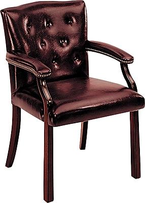 HON® 6540 Series Vinyl Guest Chair, Oxblood/Mahogany (HON6545NEJ65)