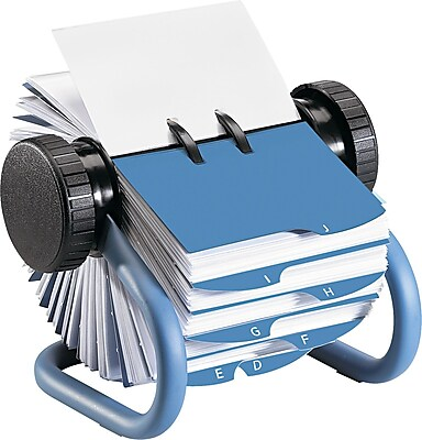 Rolodex 6 78D Open Rotary Business Card File With 24 Guides