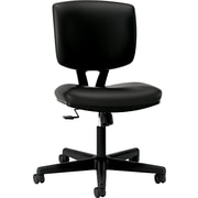 HON Volt Leather Computer and Desk Office Chair, Armless, Black (5703SB11T.COM) NEXT2017
