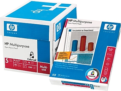 HP Multipurpose Paper, White, 8 1/2