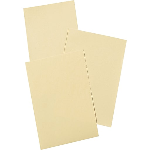 """Pacon Cream Manila Drawing Paper, Economy Weight, 40 lb., 12""""W x 18""""H, 500 Sheets/Rm"""