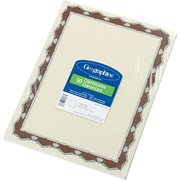 """Geographics® Acid-Free Parchment Paper Certificate, 8 1/2""""(H) x 11""""(W), Red Crown Border"""