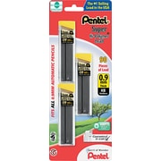 Pentel  Super Hi-Polymer  Lead Refill, 0.9 mm, HB, Black, 90/Pack