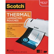 "Scotch® Laminating Pouch, 3 mil, 9""(H) x 11""(W), 50/Pack"