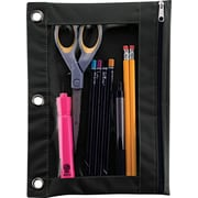 "Advantus Binder Pencil Pouch, Black/Clear, 10""(H) x 7 3/8""(W)"